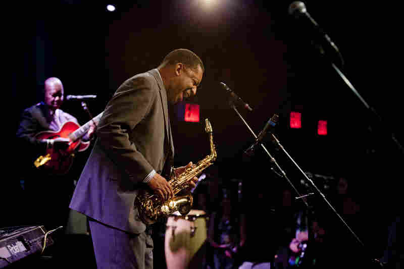 Donald Harrison's funky bebop was a crowd-pleaser on Saturday night.