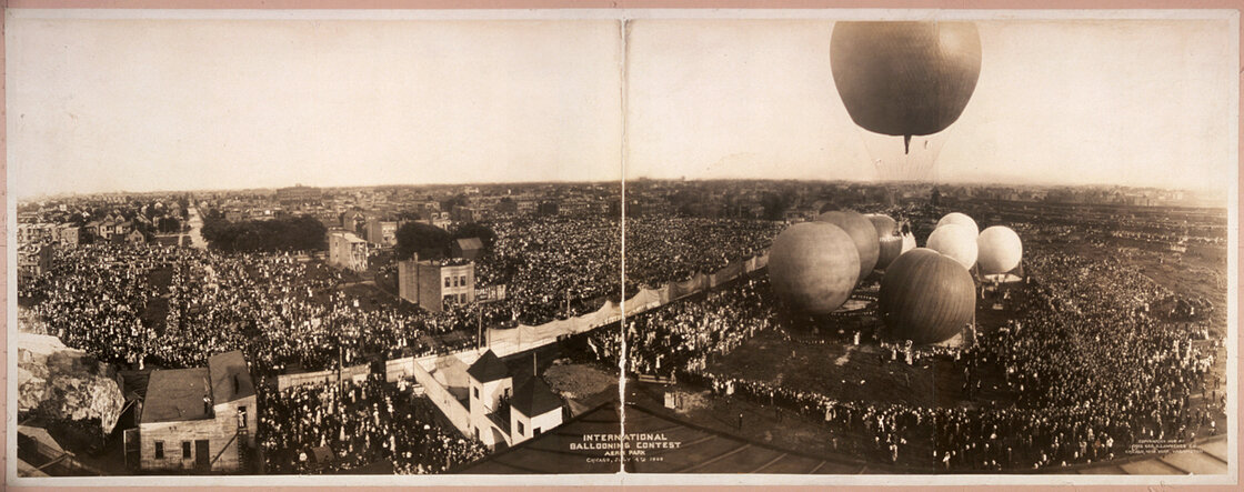 International ballooning contest, Chicago 1908.