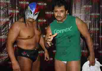 Felix's secret side project: a life of Mexican wrestling. (No, that's not actually Felix. But we wish it were.)