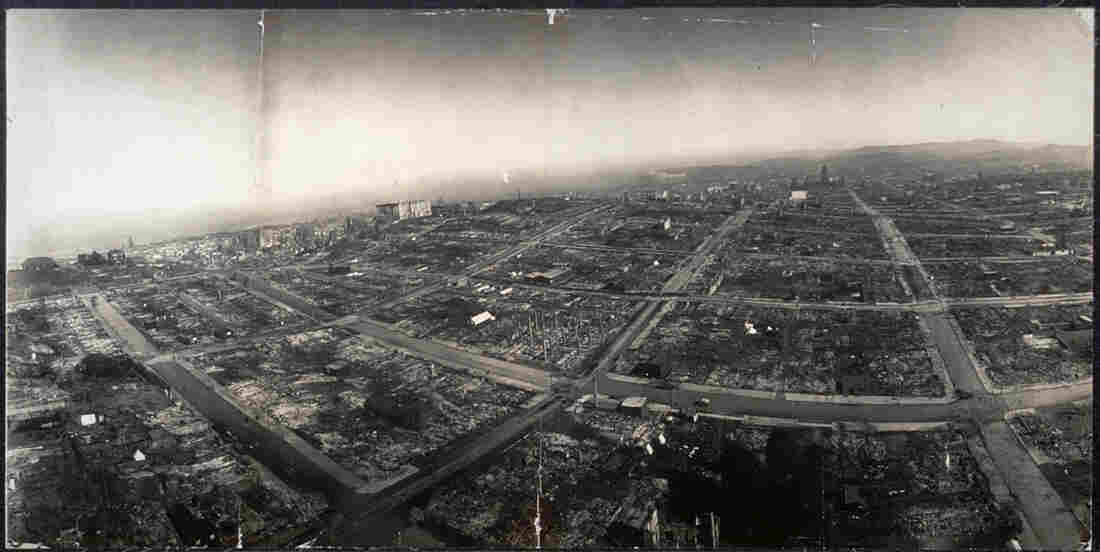 Ruins of San Francisco, 500 feet above Hyde and Green streets.