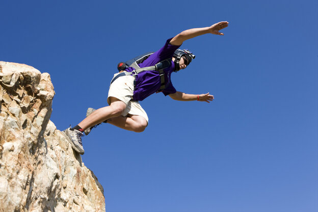 BASE jumping: Could there be any other explanation for this than free will?