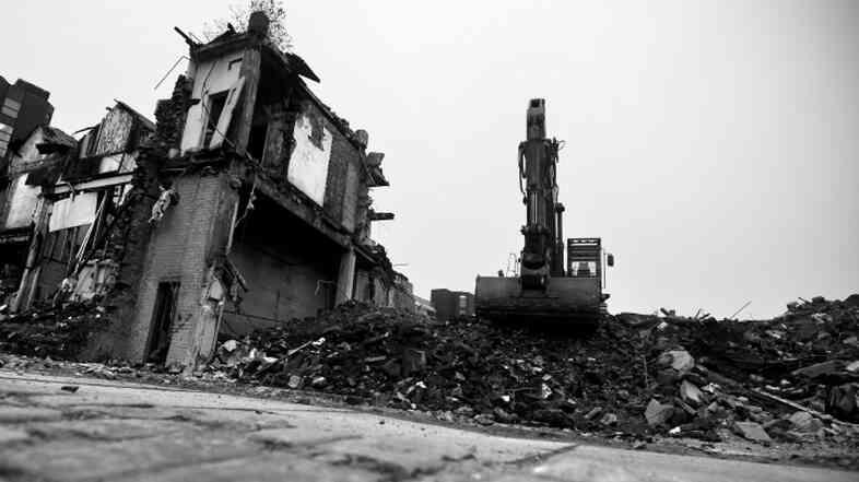 Demolition black and white