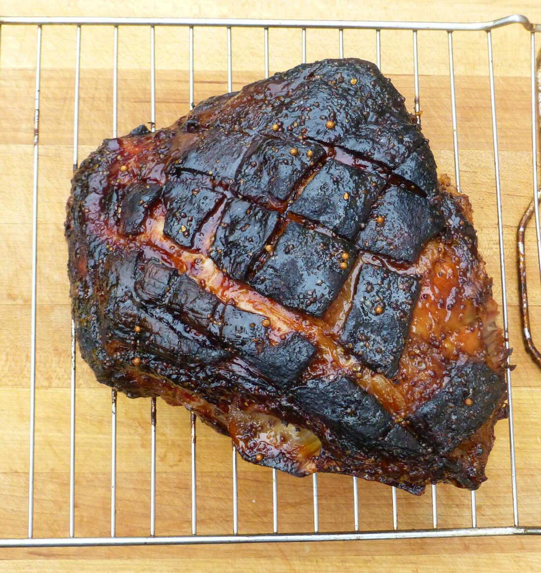 Maple Mustard Glazed Pork Shoulder