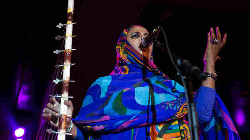 Mauritanian artist Noura Mint Seymali performs at New York City's Webster Hall during globalFEST on Jan. 12, 2014.