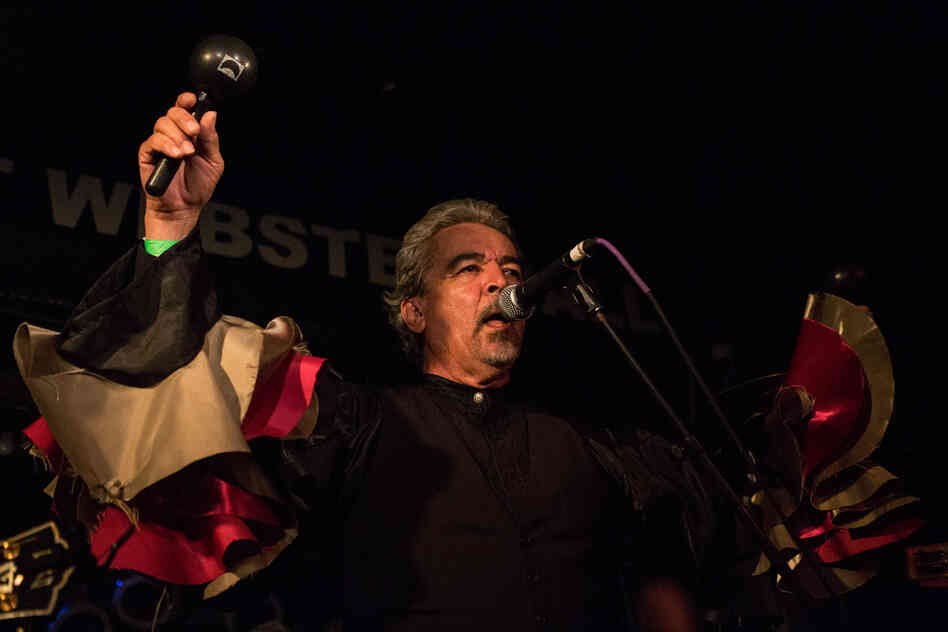 Mexican vocalist Salvador Duran's rich baritone was at the front and center of Sergio Mendoza y la Orkesta at New York City's Webster Hall during globalFEST on Jan. 12, 2014.
