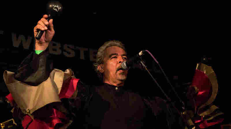 Mexican vocalist Salvador Duran's rich baritone was at the front and center of Sergio Mendoza y la Orkesta at New York City's Webster Hall during globalFEST on January 12, 2014.