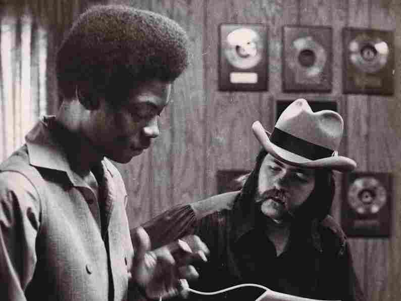 James Govan (left) with producer and engineer Mickey Buckins in the studio.