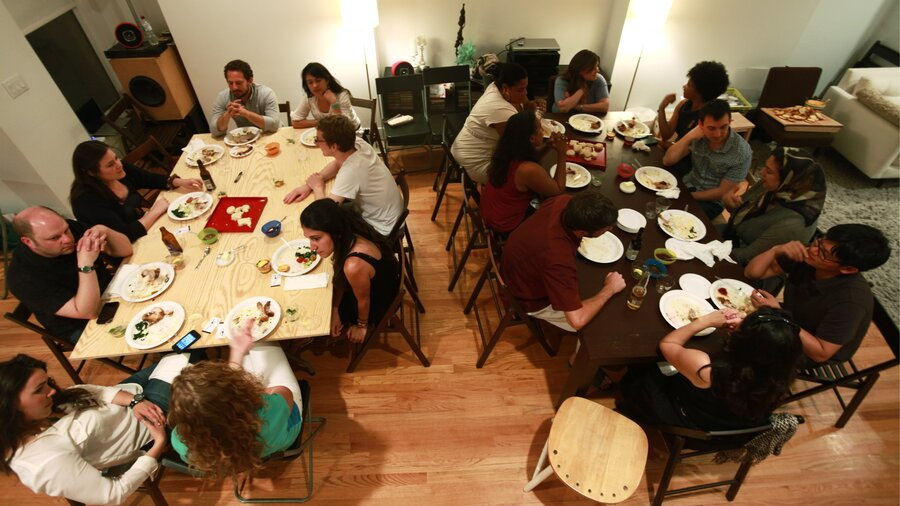 sometimes a perfect stranger is the best dinner host - Hosting A Party At Home