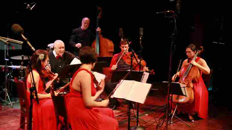Paquito D'Rivera performs with the Kaia String Quartet.