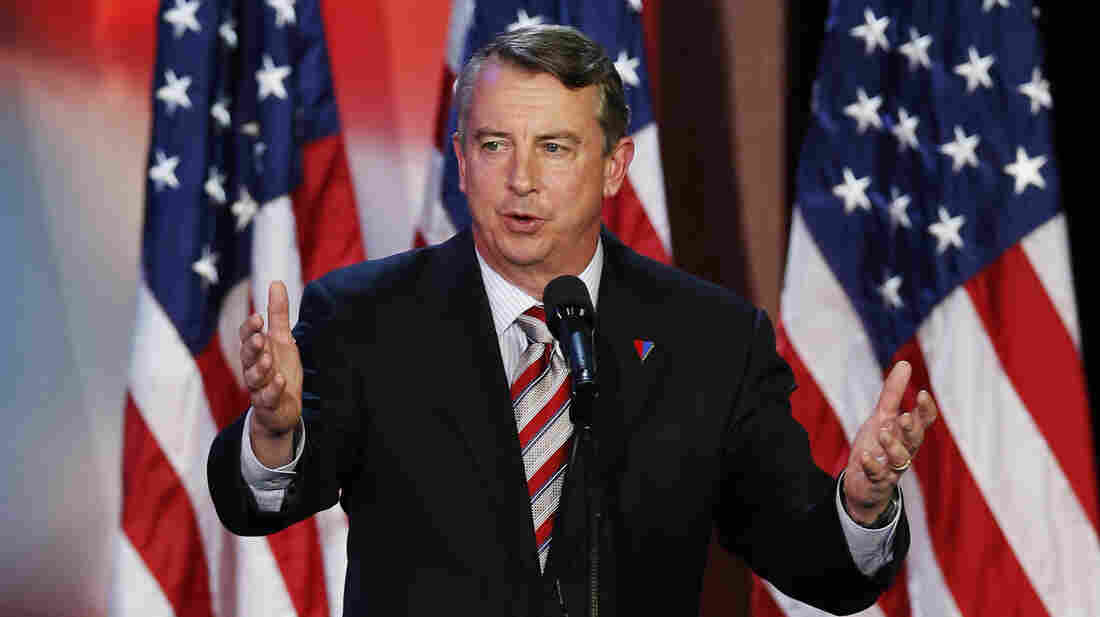 Republican Ed Gillespie announced Thursday that he's challenging Democratic Virginia Sen. Mark Warner in November's election. Gillespie, a senior adviser to Republican Mitt Romney in the 2012 presidential race, is shown here at Romney's election night rally in Boston on Nov. 6, 2012.