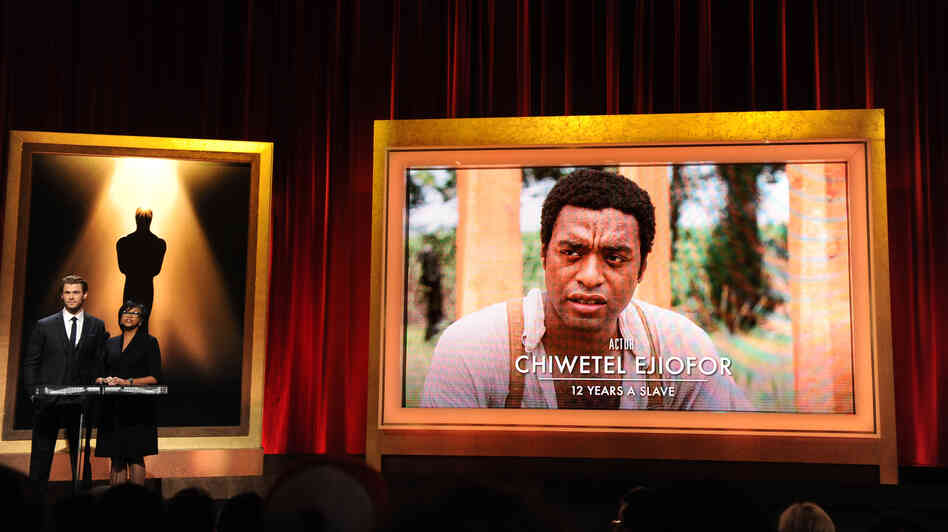 Chiwetel Ejiofor is nominated in the category of best actor for his role in 12 Years a Slave as the 86th Academy Awards nominations are announced Thursday in Beverly Hills, Calif.