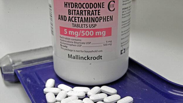 The prescription painkiller sold under the brand-name Vicodin contains hydrocodone bitartrate and acetaminophen. To reduce the risk of liver damage, the Food and Drug Administration is moving to limit the amount of