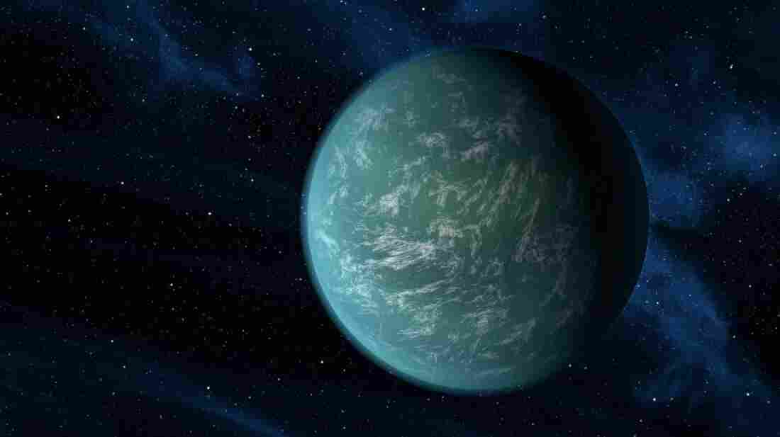"Kepler-22b, seen in this artist's rendering, is a planet a bit larger than Earth that orbits in the habitable zone of its star. Some researchers think there might be ""superhabitable"" worlds that may not resemble Earth."
