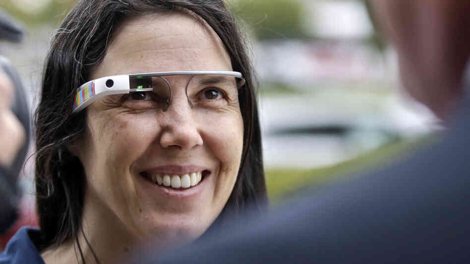 Cecilia Abadie wears her Google Glass as s
