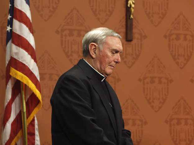 Bishop Francis Kane, vicar general of the Archdiocese of Chicago, at a news conference on Wednesday in Chicago.