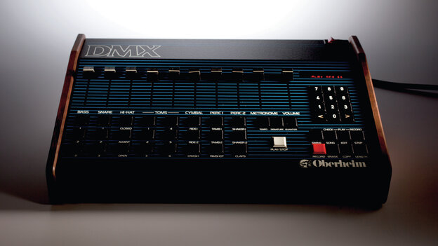 The Oberheim DMX rose to popularity in the mid-1980s, one of the first commercial drum machines that came close to mimicking real drum sounds.