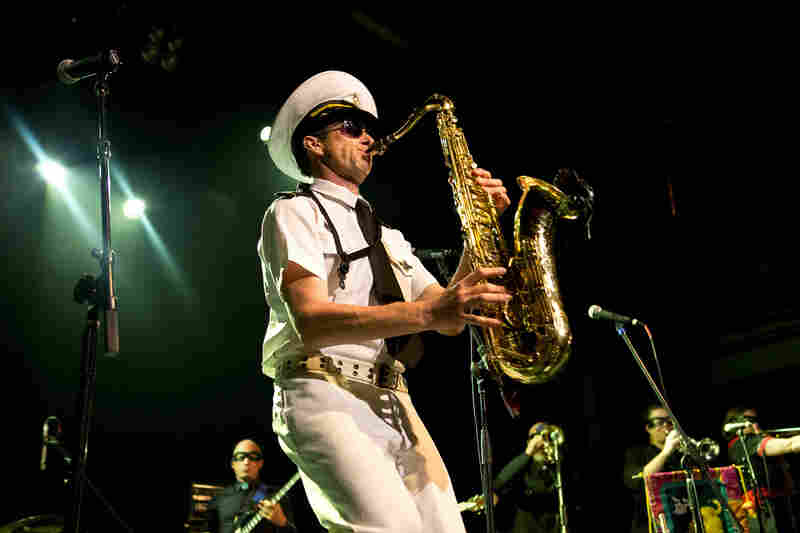 """The Bombay Royale's founder, saxophonist Andy Williamson, is """"The Skipper."""""""
