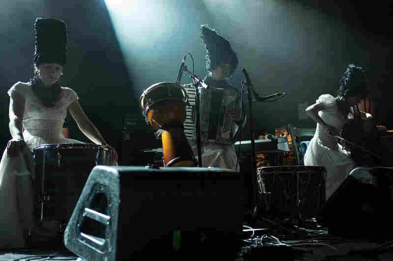 "The Ukrainian ""punk-folk"" band DakhaBrakha brought its singular style to globalFEST at Webster Hall in New York City on Jan. 12, 2014."