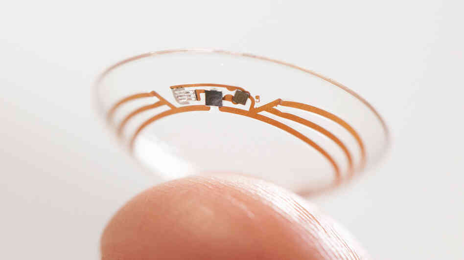 While years of research remain to see if such a system is medically viable, Google's development of a tiny, flexible wireless computer embedded in a soft contact lens is a first.