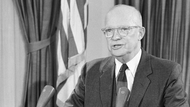 President Eisenhower during his farewell address to the nation on Jan. 17, 1961. (AP)