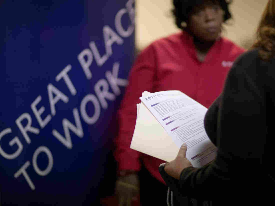 The scene at a job fair in Marietta, Ga., last November.