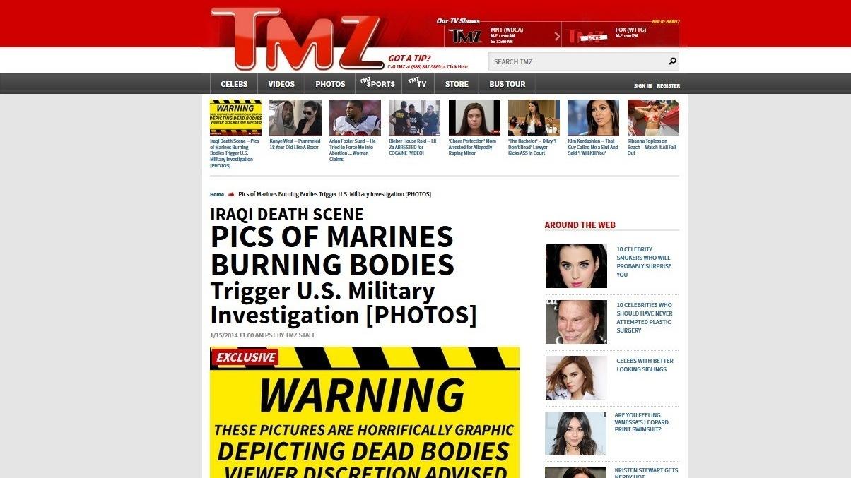 Photos May Show Marines Burning Iraqis' Bodies