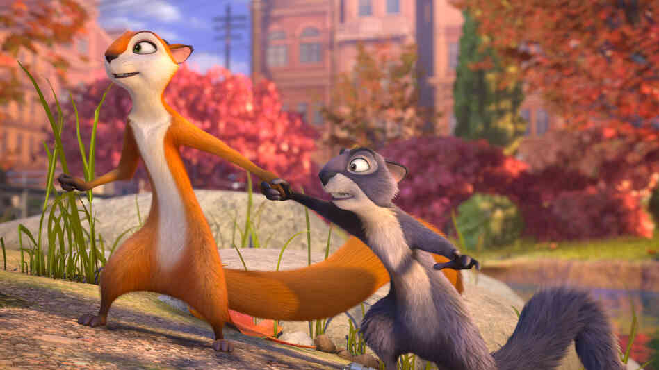 Squirrels Andie (Katherine Heigl) and Surly (Will Arnett) start out on opposite ends of the moral spectrum in The Nut Job.