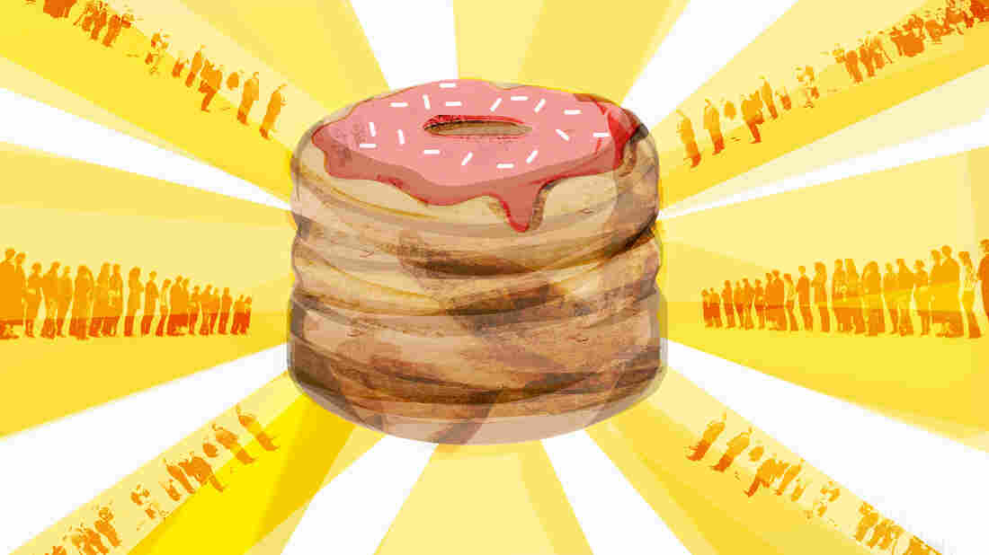 Maria Fabrizio's illustration of the story: Trademarking The Cronut