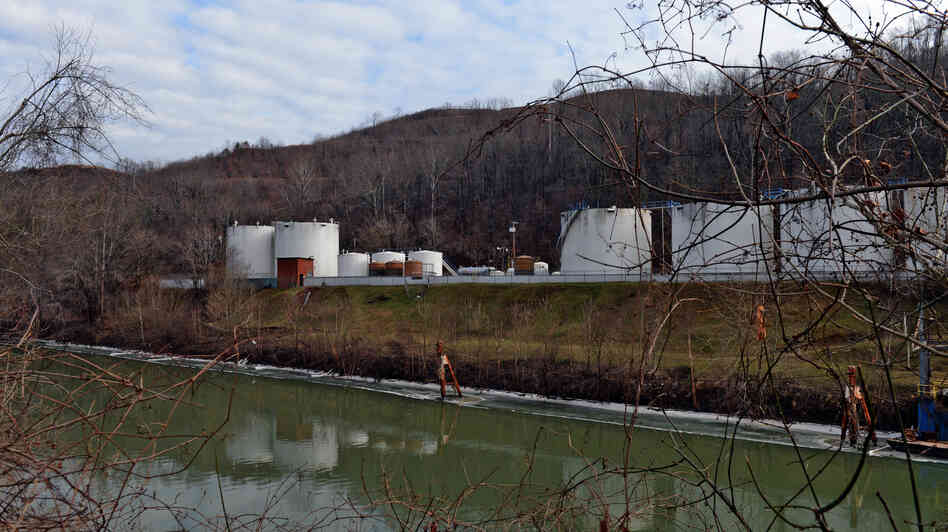 Freedom Industries, which has been blamed for a chemical spill that left thousands of people without water, has filed for bankruptcy. The company's facility on Barlow St. is seen here on the banks of the Elk River in Charleston, West Virginia.