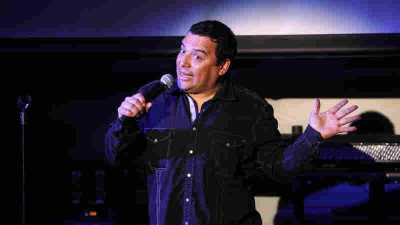 Comedian Carlos Mencia performs during the Tr3s: MTV, Música y Más Upfront in May 2010.