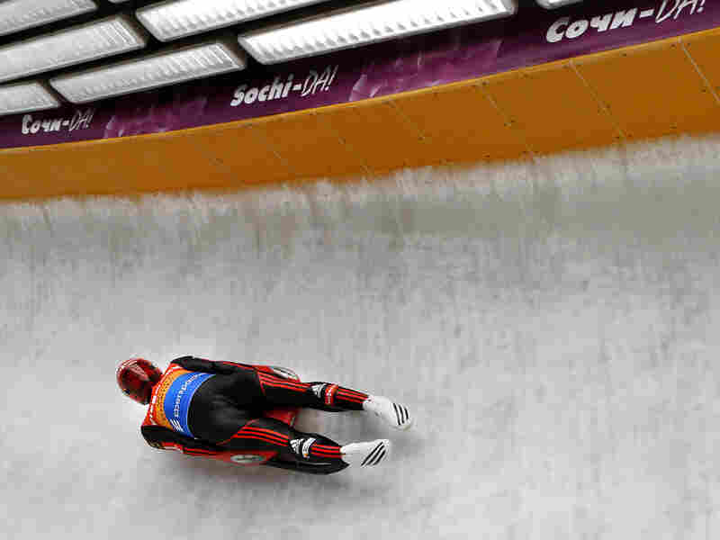 Felix Loch of Germany competes in the Luge World Cup at the Sanki Sliding Center near Sochi, Russia, on Feb. 24, 2013. The track will be used in next month's Olympic Games.