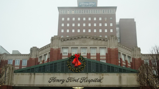 Henry Ford Hospital treats Detroit residents.  About 1 in 3 residents of that city is uninsured, and the hospital CEO hopes Medicaid expansion will increase the number of people with health insurance. (Eric Whitney)