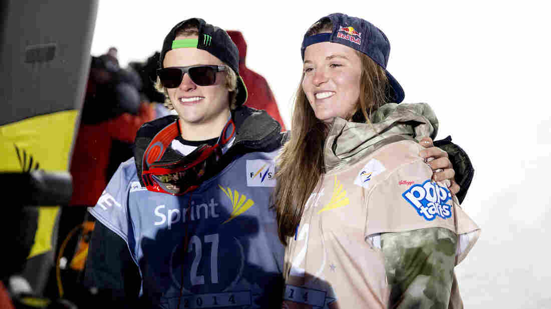 Taylor Gold and Arielle Gold pose for pictures after the 2013 U.S. Snowboarding Grand Prix at Copper Mountain in Colorado in December. Taylor has landed a spot on the U.S. Olympic team; Arielle still hopes to.