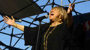 Mavis Staples performs at the 2013 Waterfront Blues Festival at in Portland, Ore.