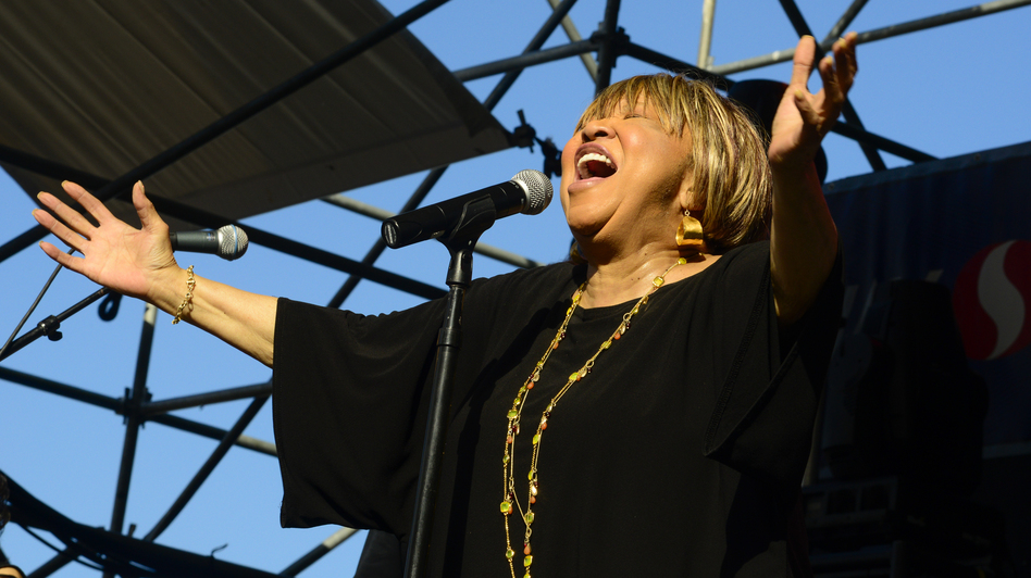 Mavis Staples performs at the 2013 Waterfront Blues Festival at in Portland, Ore. (Anthony Pidgeon/Redferns via Getty Images)