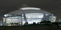 The new Dallas Cowboys stadium opened in 2009 in Arlington, Texas.