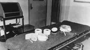 This is the execution room at the Potosi Correctional Center in Potosi, Miss., as it looked on Jan. 17, 1990. Death by lethal injection was the method used at the prison.