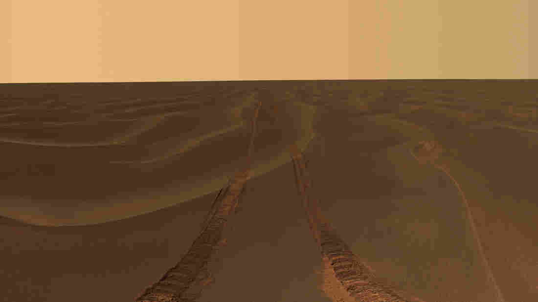 Tracks from NASA's Opportunity ro