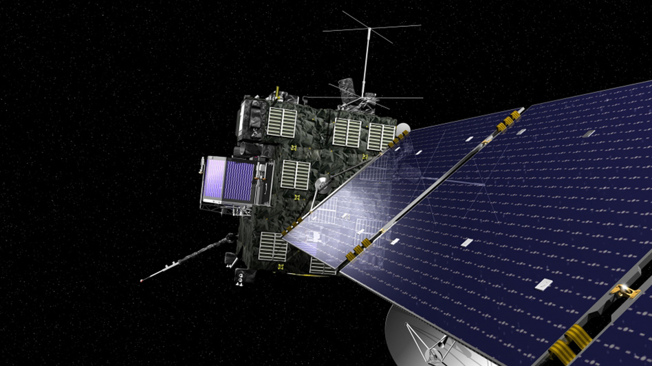 Rosetta, the European Space Agency's cometary probe with NASA contributions, is seen in an undated artist's rendering. (Reuters/Landov)