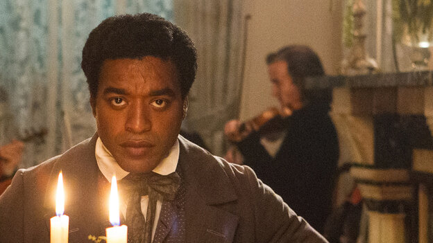 Chiwetel Ejiofor as Solomon Northup in Steve McQueen's 12 Years a Slave. It could become a classic.
