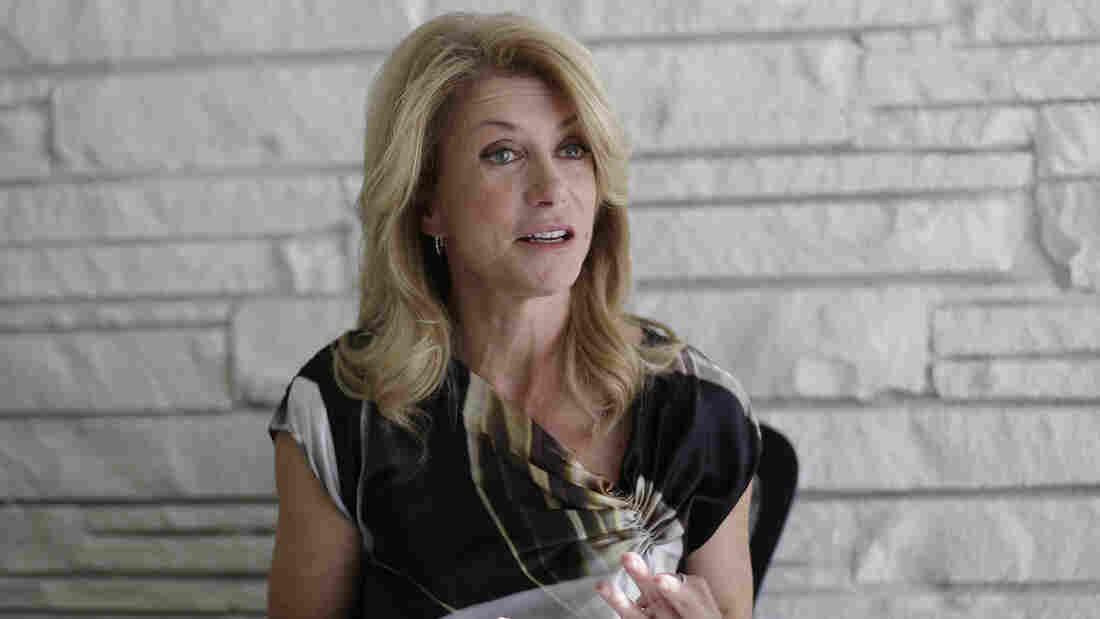 Texas Democratic gubernatorial candidate Wendy Davis takes part in an interview Monday in Austin, Texas.