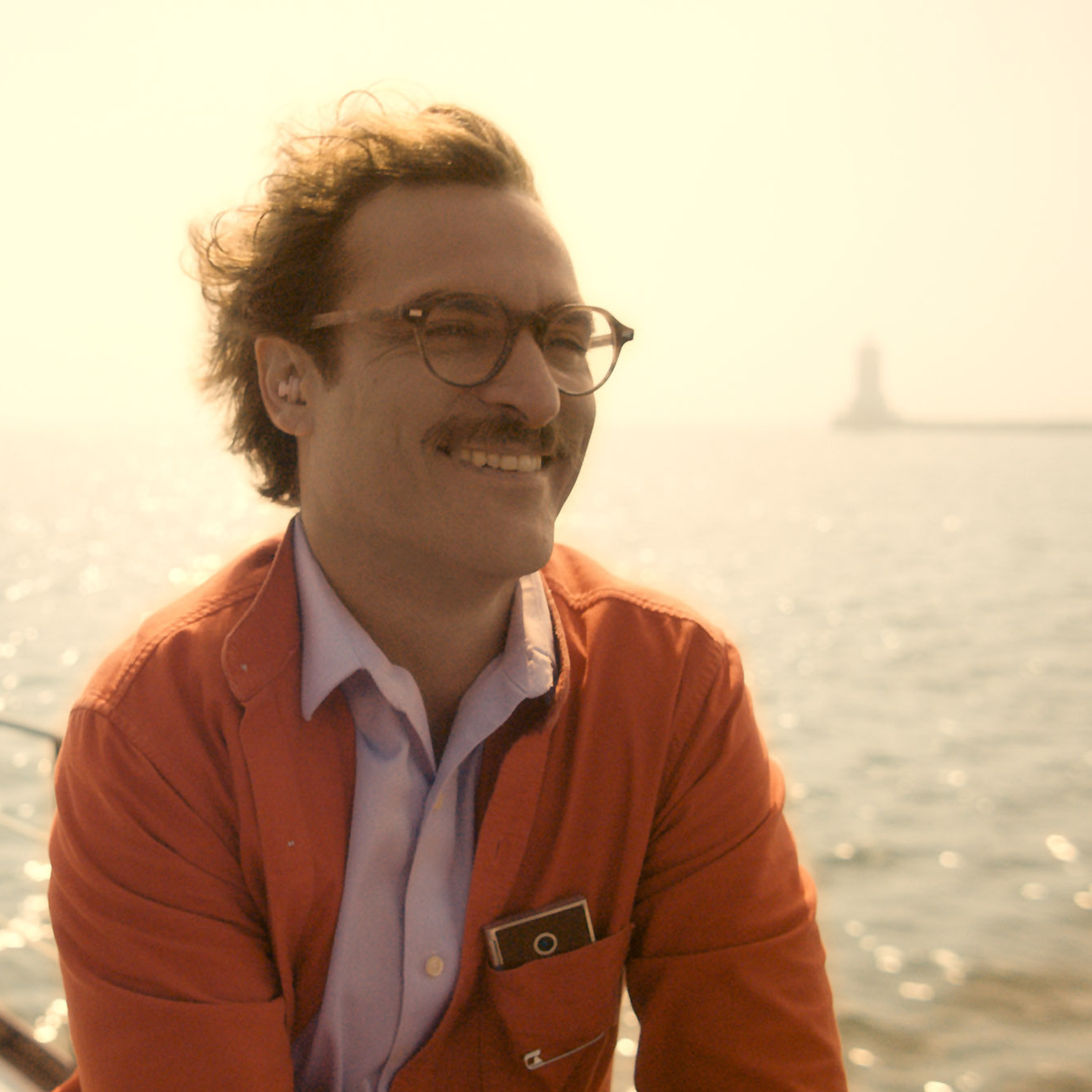 Joaquin Phoenix's Her character, Theodore, has a job writing intimate -- and sometimes erotic -- cards and letters on behalf of other people.