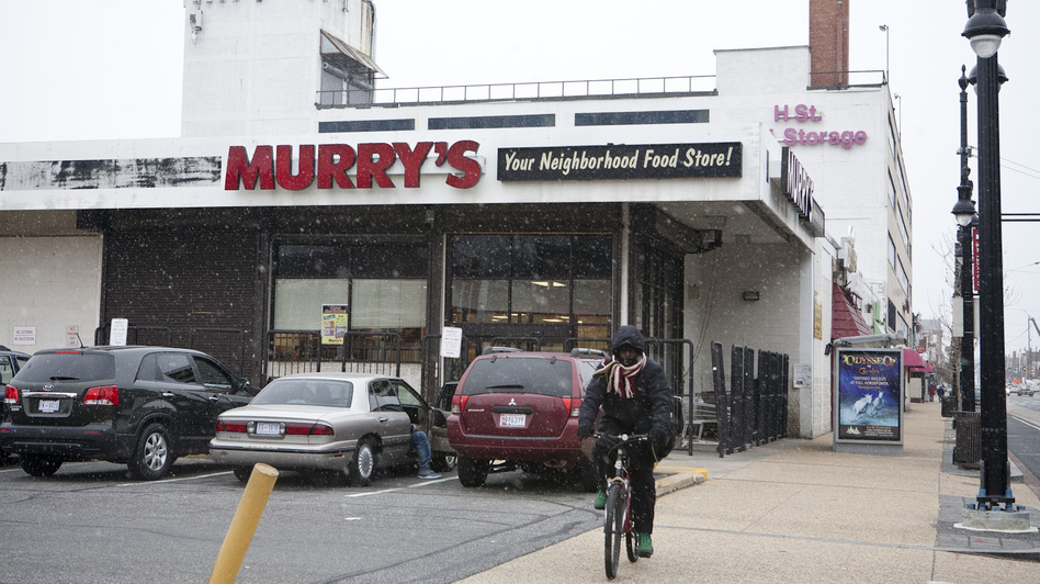 Murry's grocery store has anchored H Street Northeast for decades. Soon, the store will be replaced by a Whole Foods market and an apartment complex. (NPR)