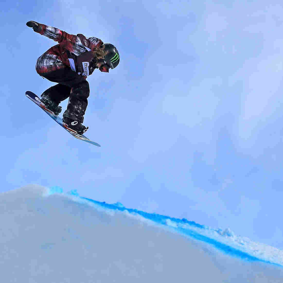 Jamie Anderson competes in the FIS Snowboard Slopestyle World Cup at the U.S. Grand Prix in January 2013, Copper Mountain, Colo.
