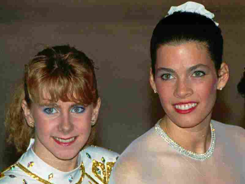Tonya Harding and Nancy Kerrigan at the 1992 U.S. Figure Skating Championships in Orlando, Fla.