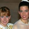 Tonya Harding and Nancy Kerrigan at the 1992 U.S. Figure Skating Championships in Orlando, Fla.