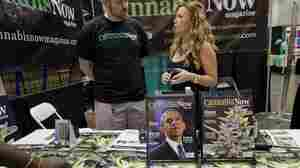 President Obama graces the cover of Cannabis Now magazine at the HempCon medical marijuana show, May 24, 2013, in Los Angeles.
