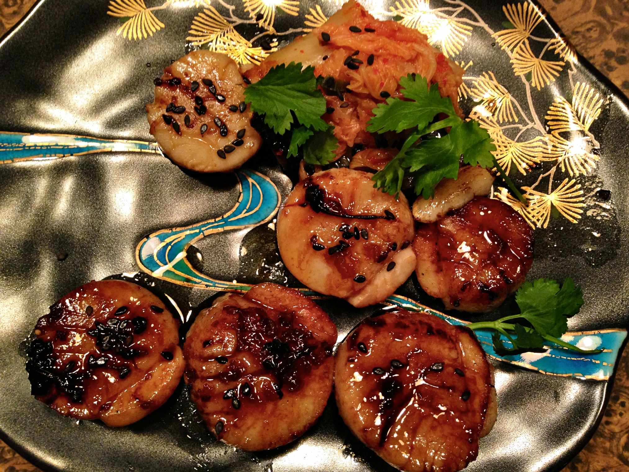 Sea Scallops With Maple Asian Glaze