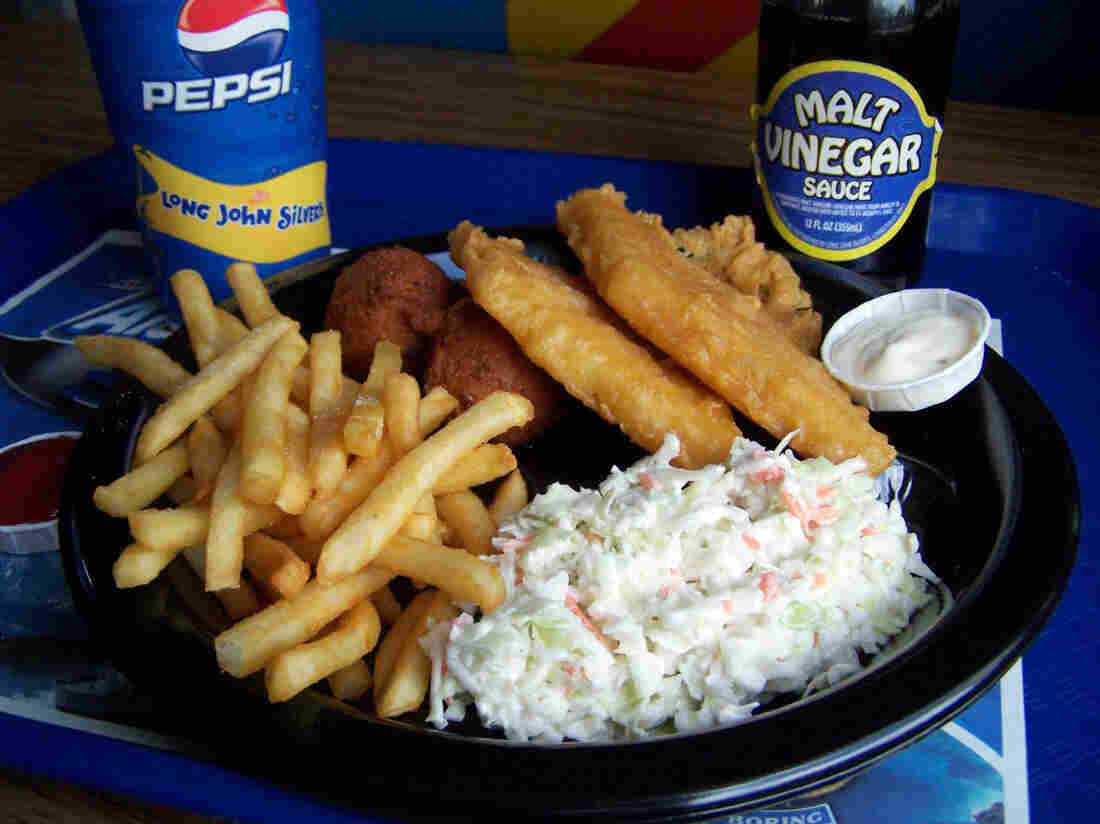 "Last year, Long John Silver's Big Catch platter — which contained a whopping 33 grams of trans fats — won the dubious distinction of ""worst restaurant meal in America"" from a health watchdog group. Now, the fast-food chain says it has ditched the unhealthful fats from its menu."