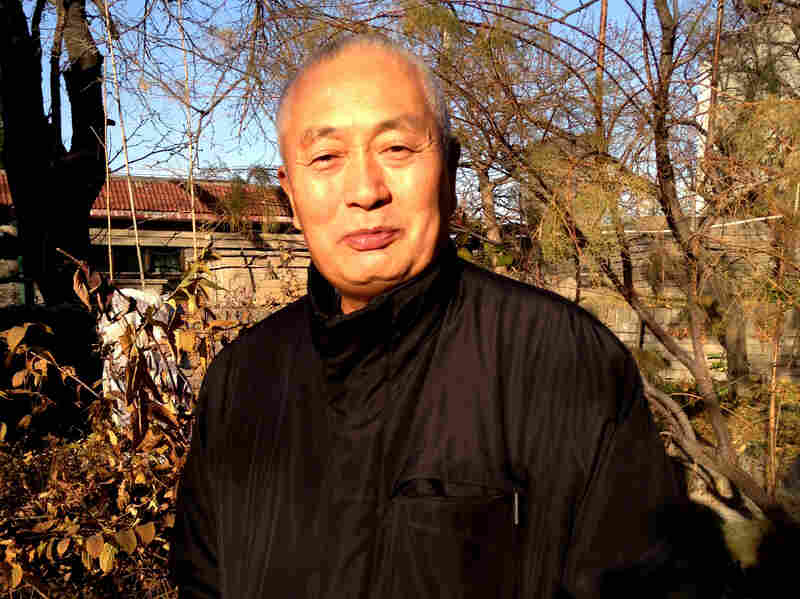"""Chen Xiaolu is one of the most high-profile former Red Guards to publicly apologize for the attacks against his teachers. """"Looking back on it, I believe their human rights and dignity were trampled upon,"""" says Chen, shown here in the courtyard of his Beijing residence."""